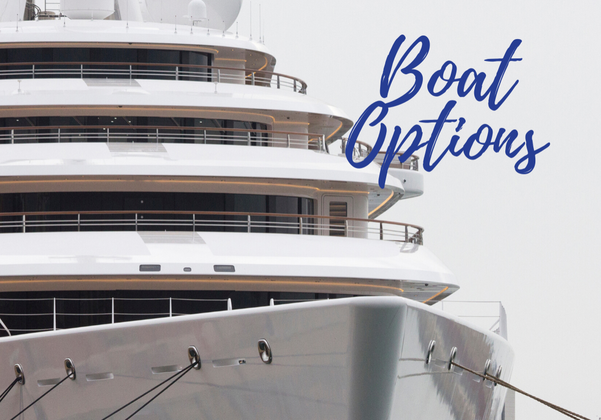 Yacht Boat Options